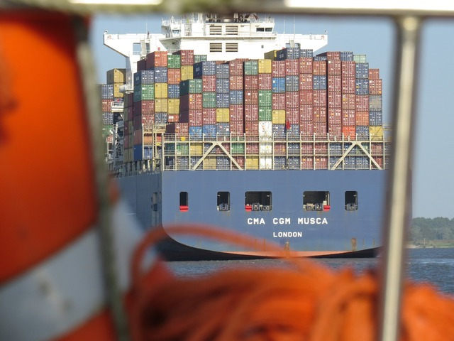 Container cargo maritime, transportation traffic.
