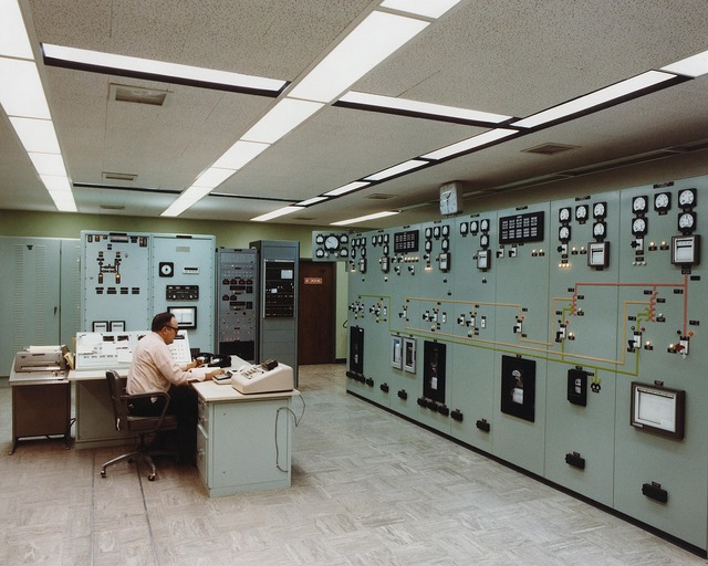 Control room electrical substation energy, science technology.