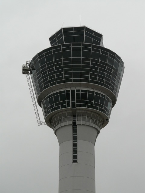 Control tower tower airport, architecture buildings.