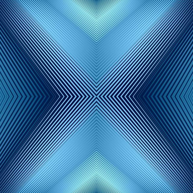Converging lines blue.