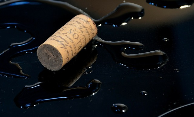 Cork wine puddle, food drink.