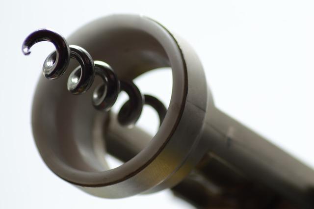 Corkscrew bottle opener light.