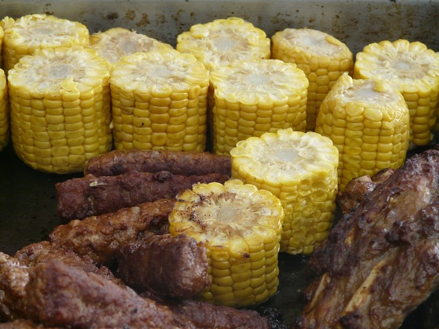 Corn on the cob grilled barbecue.