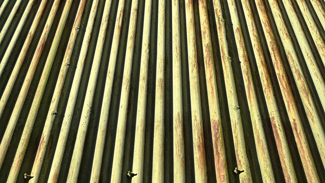 Corrugated iron sheet, architecture buildings.