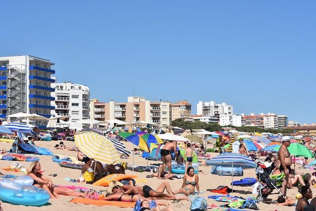 Costa brava beach people, travel vacation.