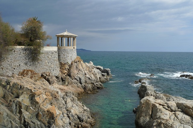 Costa brava rocks coastal, travel vacation.