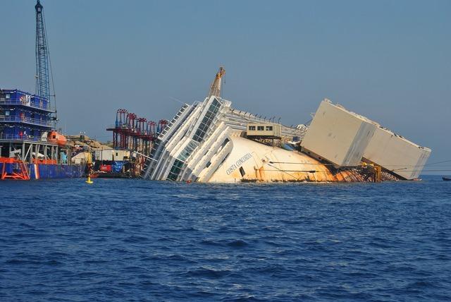 Costa concordia sea blue.