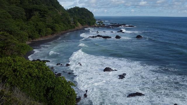 Costa rica beach sea, travel vacation.