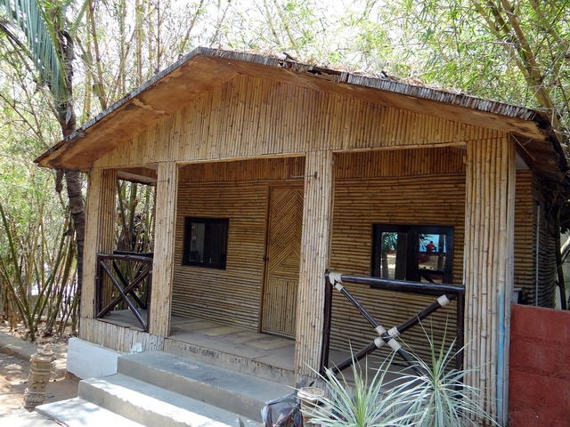 Cottage hut bamboo.