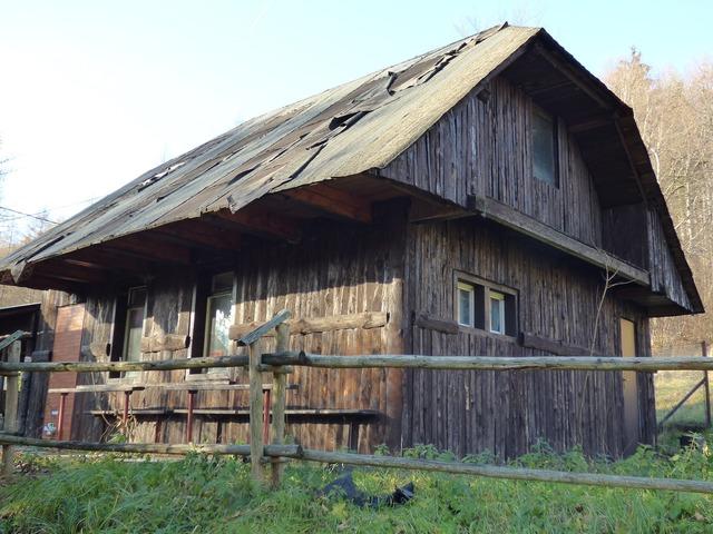 Cottage hut mountains.