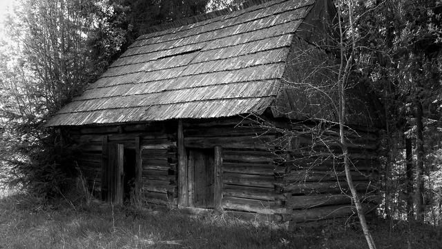 Cottage hut wooden cottage.