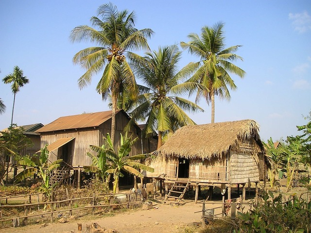 Cottages cambodia land.