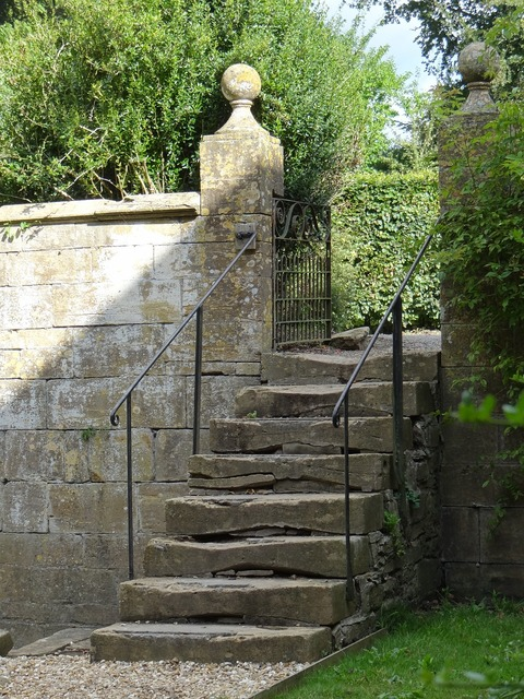 Country house balustrade handrail, architecture buildings.