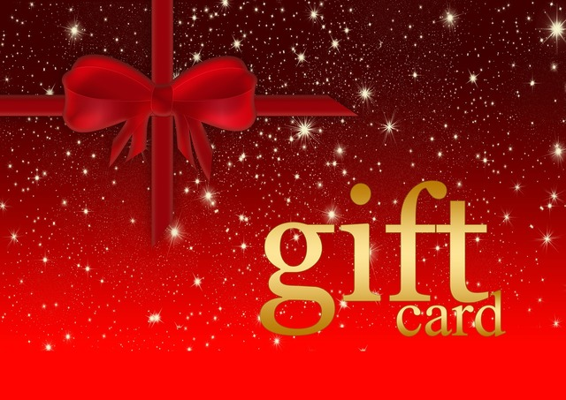 Coupon gift card red.