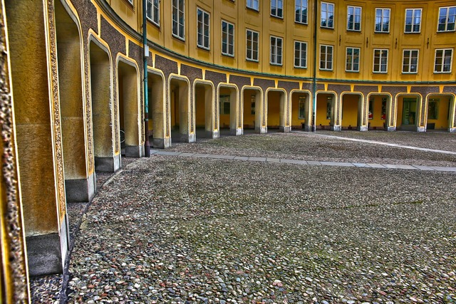 Courtyard house stockholm, architecture buildings.