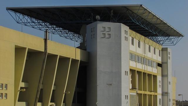 Cover stadium modern, architecture buildings.