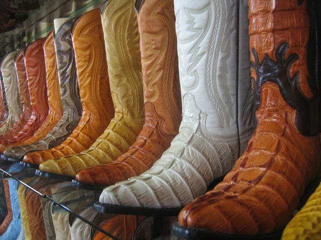 Cowboy boots shelves styles, business finance.