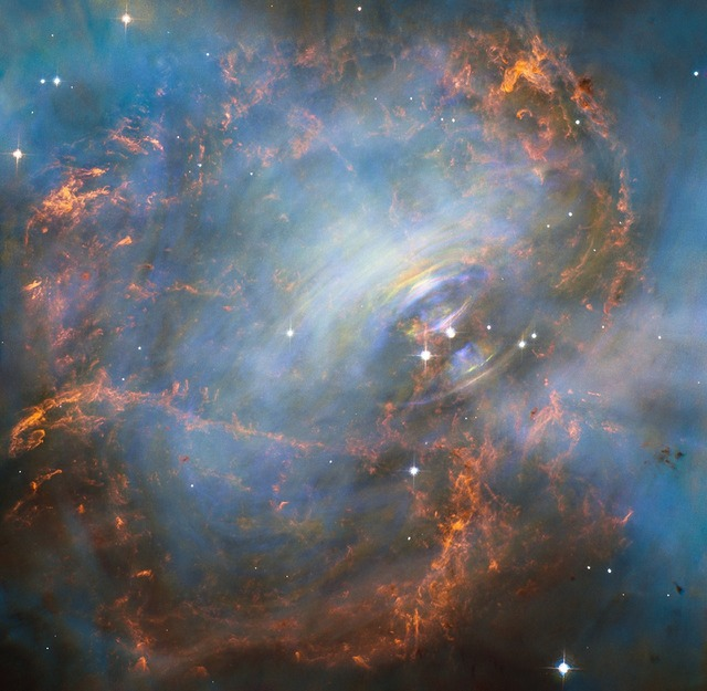 Crab nebula heart space.