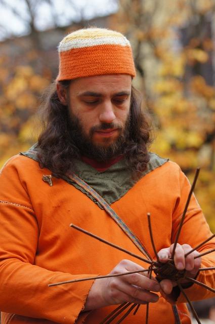 Craftsman handicraft orange, industry craft.