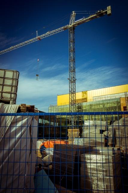 Crane construction building, architecture buildings.