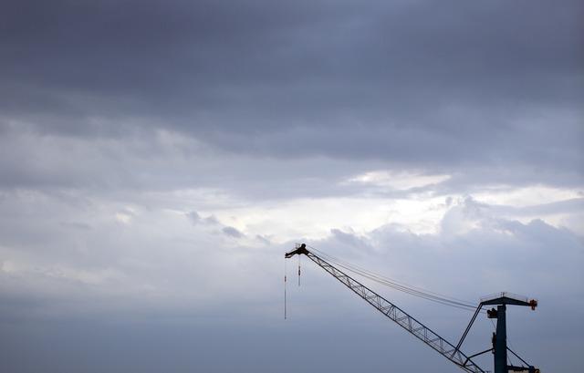 Crane industry port, industry craft.