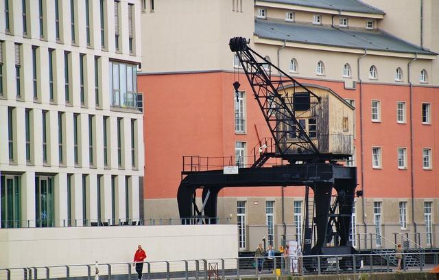 Crane kranhaus lifting crane, architecture buildings.