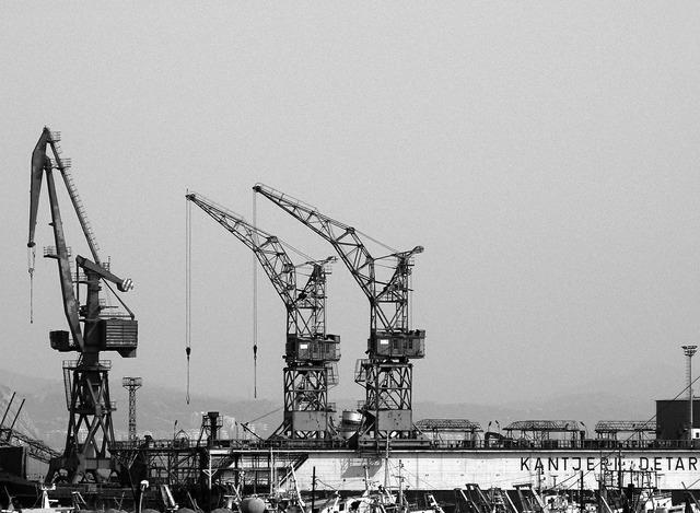 Cranes construction construction site, architecture buildings.