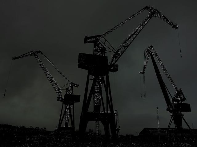 Cranes industrial industry, industry craft.