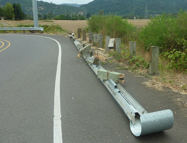 Crash barrier guardrail guard railing, transportation traffic.