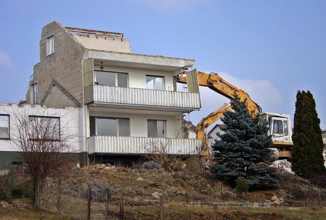 Crash demolition home, architecture buildings.