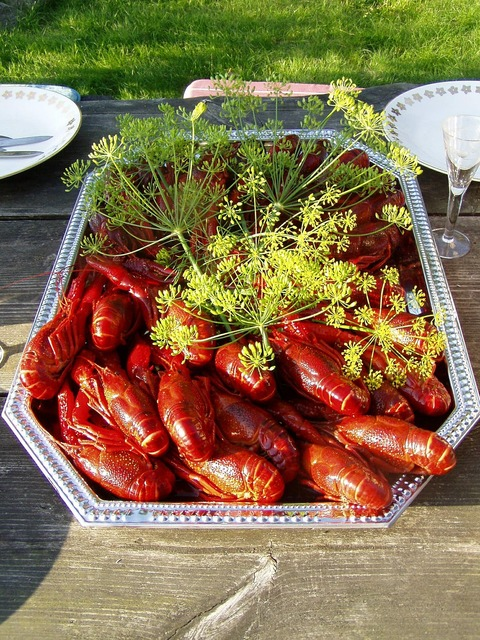 Crayfish kalas dill.