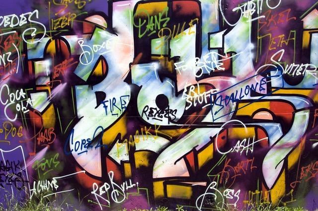 Creativity art painted wall.