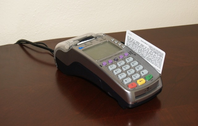 Credit card machine card sale, business finance.