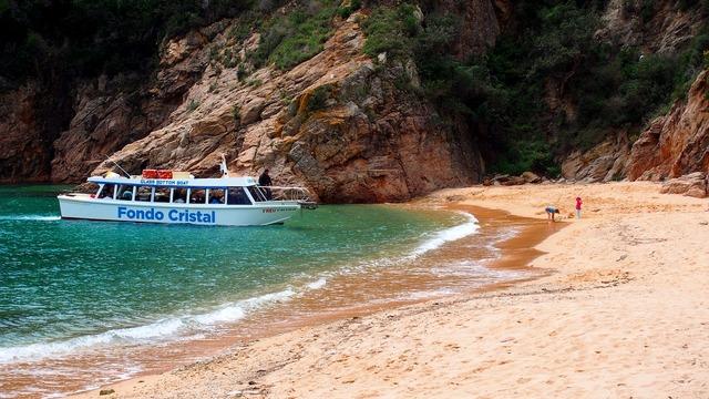 Creek boat spain, travel vacation.