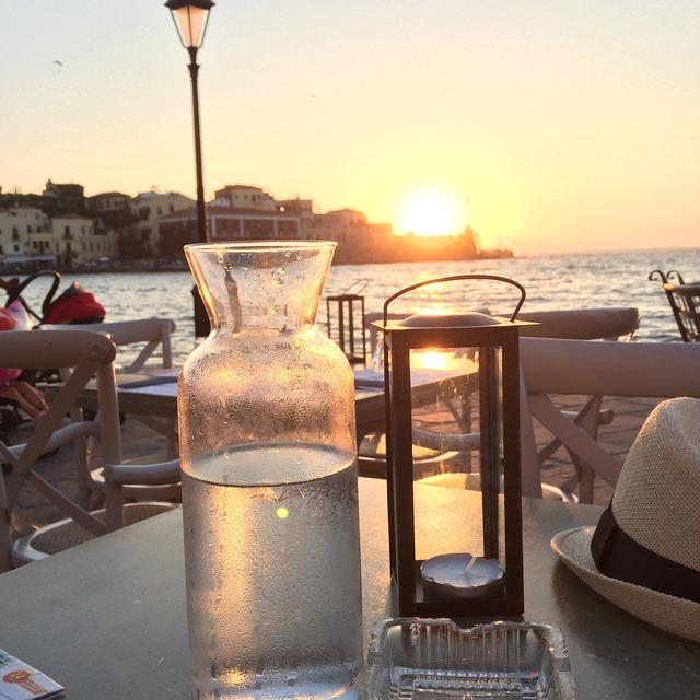 Crete sea seaside, travel vacation.