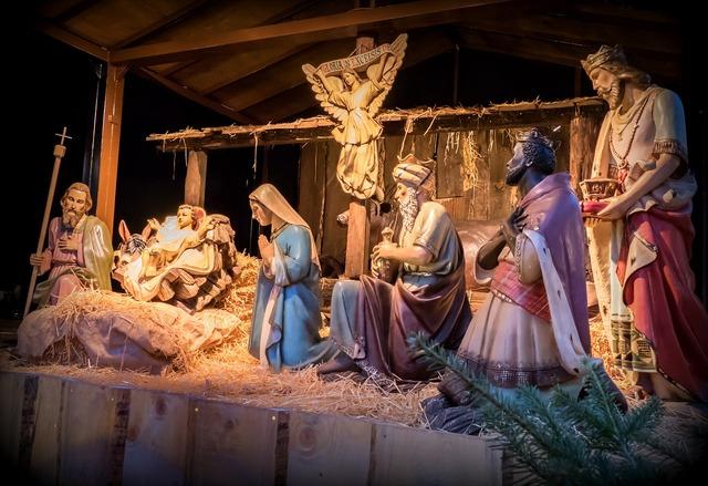 Crib christmas father christmas, religion.