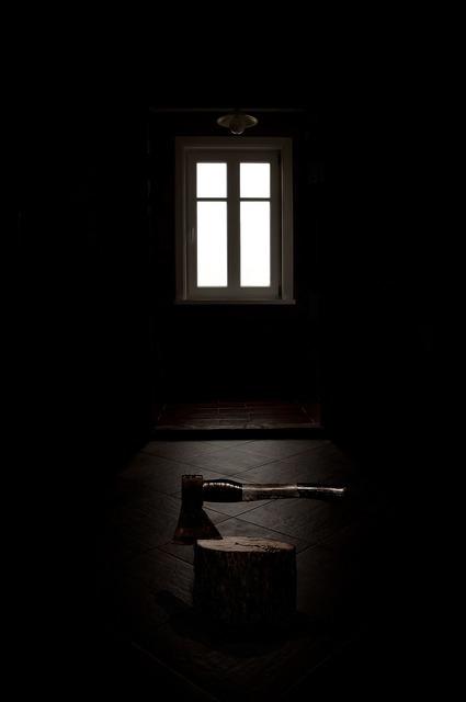Crime dark room ax.