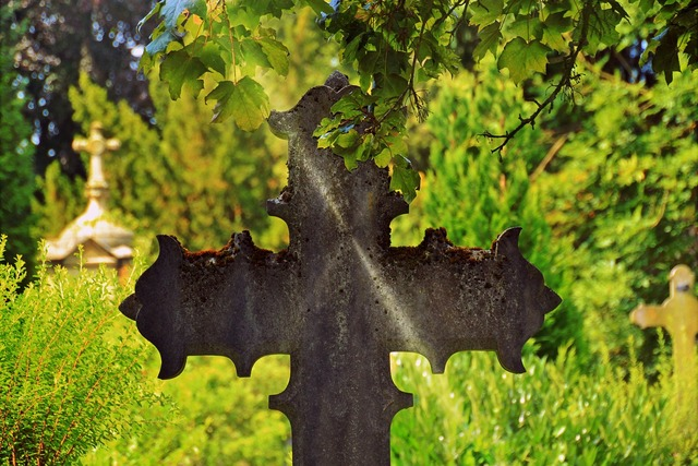 Cross metal cross cemetery, religion.
