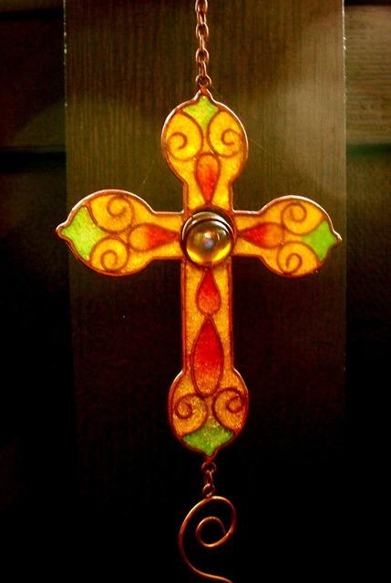 Cross ornament vintage, religion.