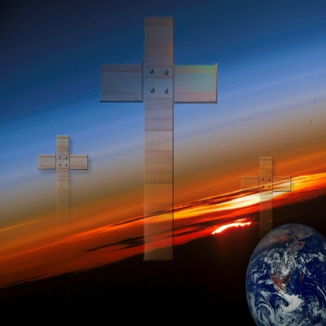Cross salvation world, religion.