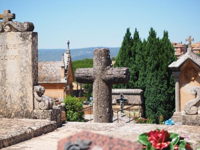 Cross stone cross cemetery, religion.