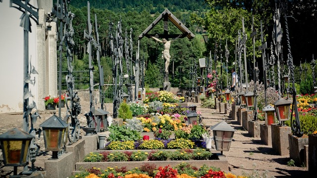 Crucifix cemetery graves, religion.
