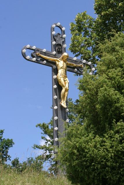 Crucifix dietfurt altmühl valley, architecture buildings.