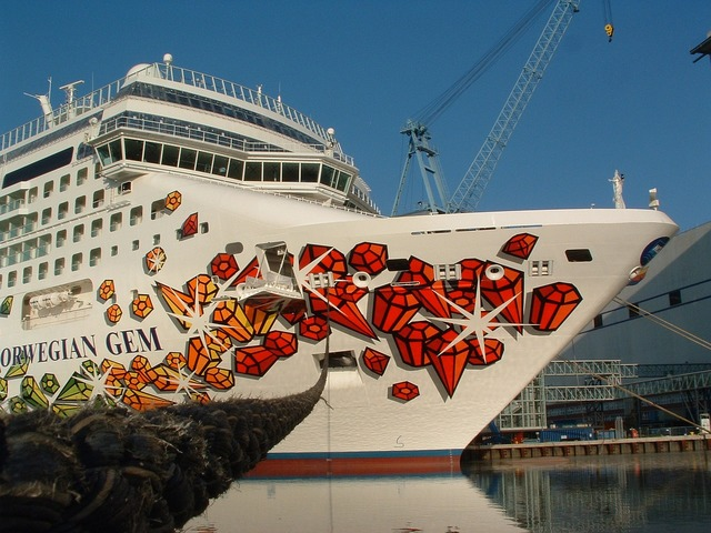 Cruise ship ocean, travel vacation.