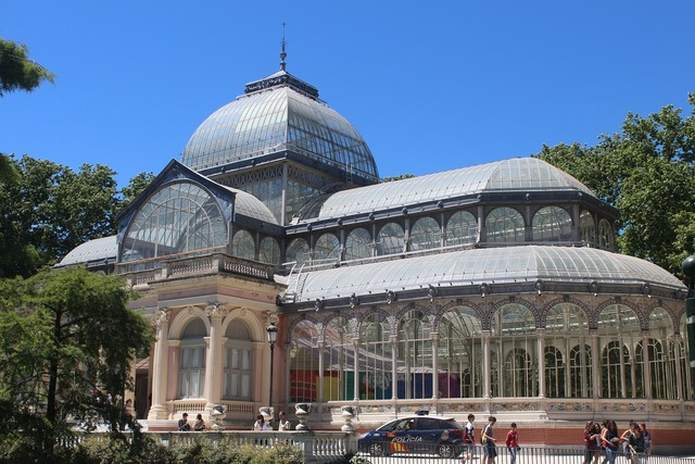 Crystal palace madrid spain, architecture buildings.