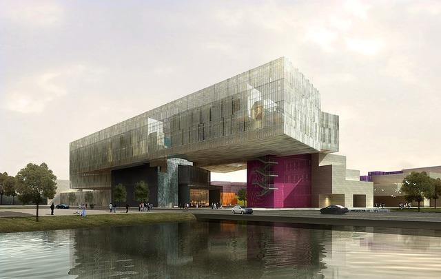 Culture building show, architecture buildings.