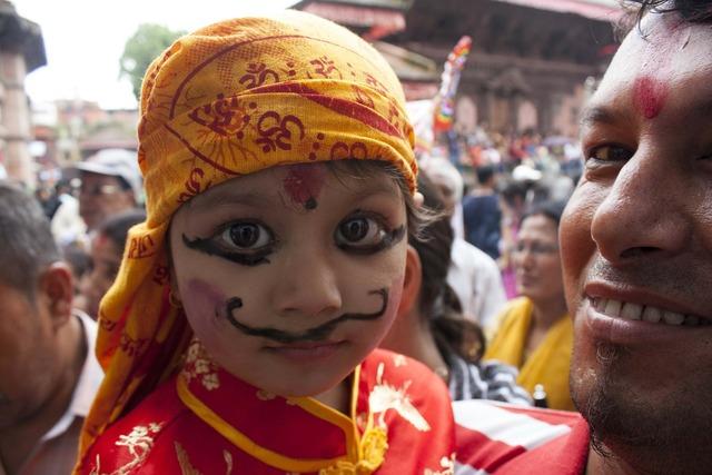 Culture festival gai jatra, people.