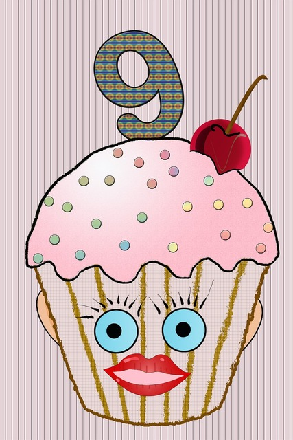 Cup cake muffin birthday.