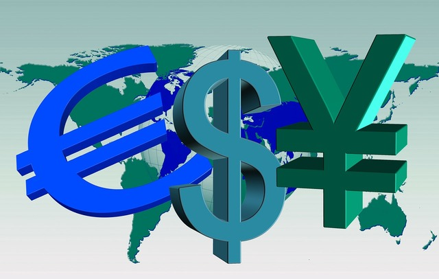 Currencies world earth, business finance.