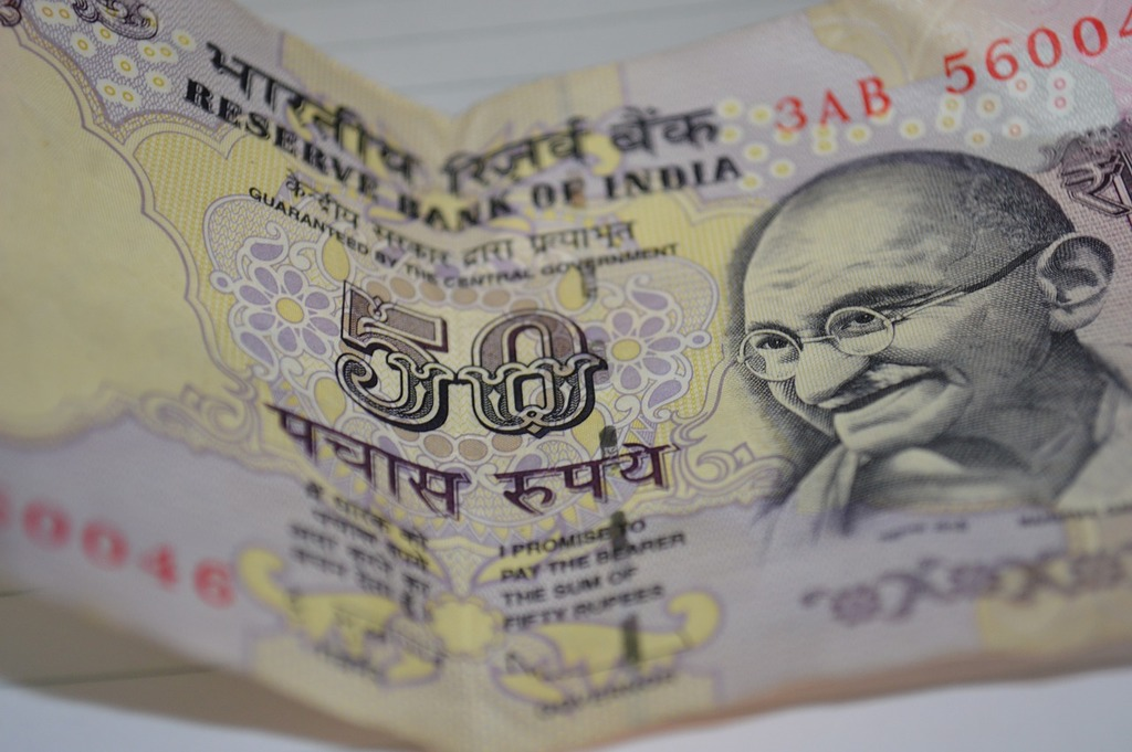 Currency notes rupee, business finance.